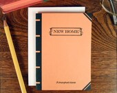 letterpress new home book cover greeting card triumphant classic orange book lover