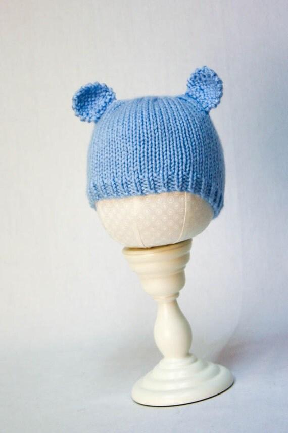 Minimalist Baby Bear Hat knitting PATTERN - cute stocking ...