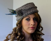 Crochet Pillbox Hat Pattern - Vintage Inspired - Photo Tutorial for Embellishments Womans Fashion No. 74