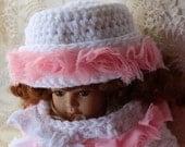 Crochet Pillbox Hat Pattern Downton Abbey Inspired Baby Hat 3 sizes preemie thru 18mo  Buy 2 get 1 Free Crochet Pattern No. 79