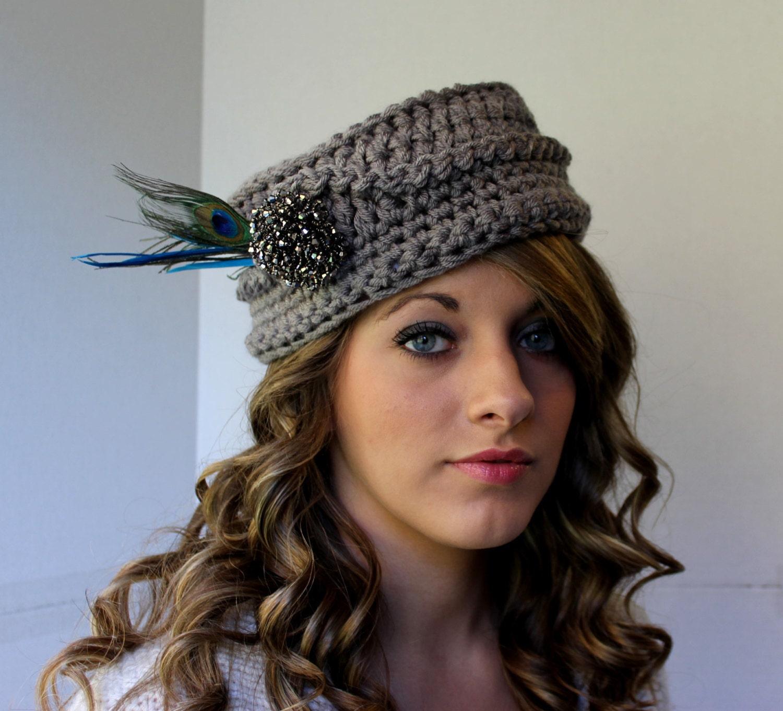 Crochet Pillbox Hat Pattern for Vintage by PatternsByKrissy