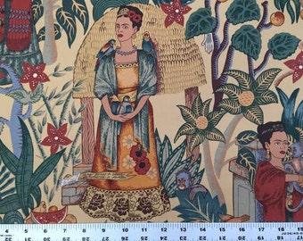 Alexander Henry FABRIC - Oxford Canvas - Frida's Garden - Dark Tea