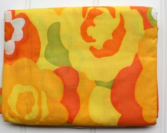 New Vintage Duvet Cover - Cotton Comforter and Blanket Cover  - New Twin Full Queen -Orange Yellow Green - Mod