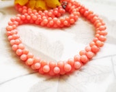 Pink Coral Necklace, Handmade, Unique, Necklace Set, Baby Salmon Coral, Natural