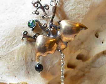 Golden Bat Necklace