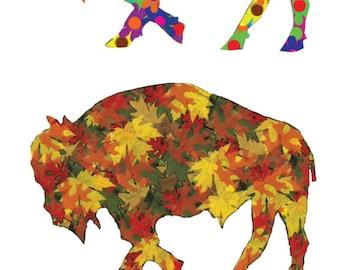 Buffalo Art - Buffalo Print -  BuffaloFour Seasons - Buffalo A City for All Seasons Version 2 - Buffalo NY - Buffalo Gift