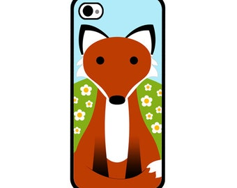 Phone Case - Red Fox in a Field of Flowers - Hard Case for iPhone 4, 4s, 5, 5s, 5c, SE, 6, 6 Plus, 7, 7 Plus - iPod Touch 4, 5/6 - Galaxy