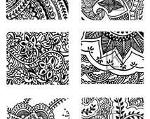 Mehndi Tattoo Designs #43 Silk Screen Stencils
