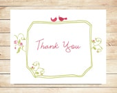 Lovebird Wedding Thank You Cards - Lovebird Stationery