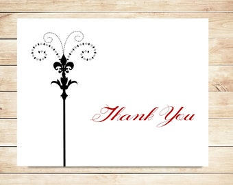 Fleur-de-lis Thank You Cards