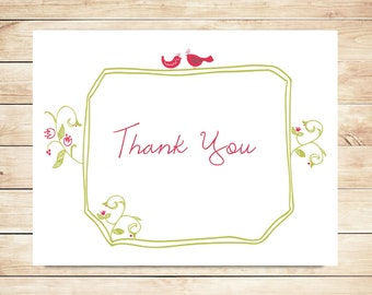 Lovebird Wedding Thank You Cards - Lovebird Stationery