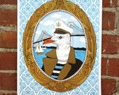 Sea Captain - 11x14 Handprinted Art Print