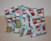 HANDWARMERS or BOOBOO BAGS. reusable handwarmers/ice packs set of two. vintage santa