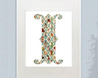 Soldier Boy Vintage Alphabet Print - Boy's Room Decor, Beautiful Antique ABC Print, Choose Your Letter
