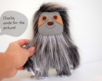 Charlie The Sloth Plush / Eco Friendly Stuffed Toy
