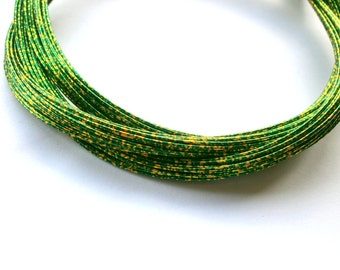 Mizuhiki Japanese Decorative Paper Strings Cords METALLIC Gold And Green