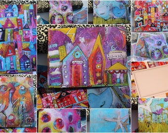 Special! Buy in Bulk and Save.  4 for 10.00  Assorted Styles  FLAT note cards by Jodi ohl