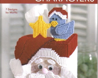 Christmas Characters ~  plastic canvas book