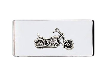 Sterling Silver Motorcycle Money Clip