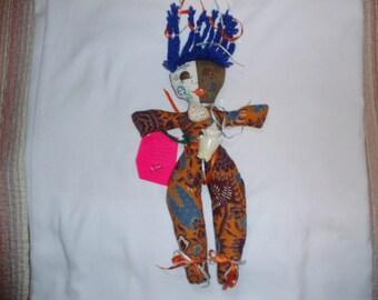 African NANA Mocko JUMBIE rare spirit soul primitive jumbies collectible doll autographed signed ooak stuffed Nana's creations souvenier