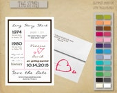 The Story 5x7 Save the Date Card