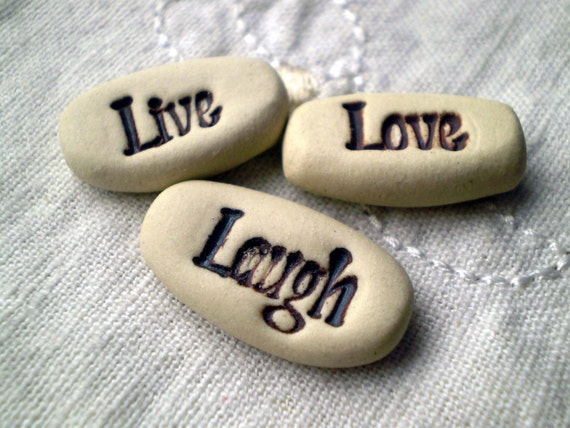 Items similar to Live Love Laugh, Party Favors, Pocket ...
