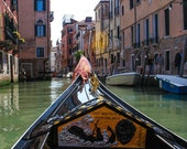 View from a gondola  //   wall art  /  travel photography  /  Venice