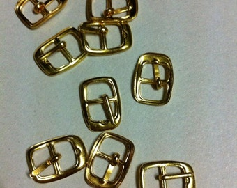 set of 40 belt buckle for blythe or 12 inch doll 17mm(B) gold colour