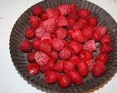 Raspberry Wax Embeds Raspberries