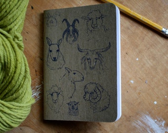 "Sheepish Notebook 3.5"" x 5"" 32 blank pages, set of 2"