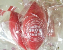Vintage Red Clown Noses / Set of Three / Collectible Souvenir / Ringling Bros.and Barnum & Bailey Circus