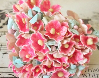 Forget Me Nots / Vintage Millinery / Muted Melon / One Small Bouquet