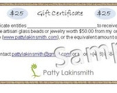 25 Dollar Gift Certificate for anything in my Etsy Shop