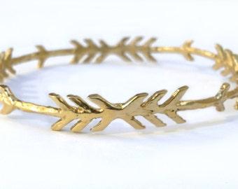 Chevron Arrow Bracelet    cuff silver gold jewelry