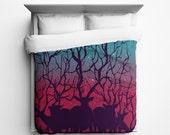 Deer Forest Duvet Cover - Made in USA