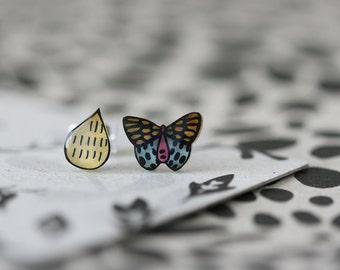 Swiftwing Butterfly - Earring Studs