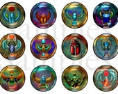"""1"""" Egyptian Scarab Flatback Buttons, Pins, Magnets 12 Ct."""