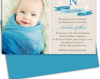Photo baptism invite etsy boy photo christening invitationbaptism invitationnaming daypersonalized invitationphoto invitation stopboris Image collections
