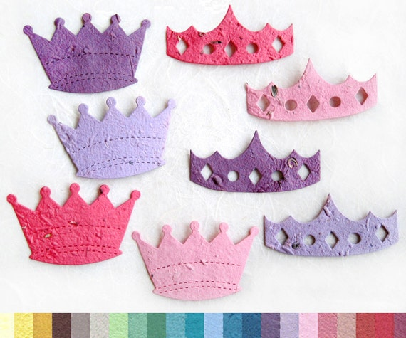 10 Princess Crown Seed Party Favors Seed Paper by recycledideas