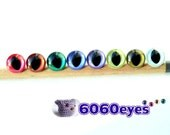 12 mm Hand Painted PEARL CAT EYES - 8 Pairs (12hpC8)