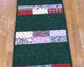 Quilted table Runner in Green