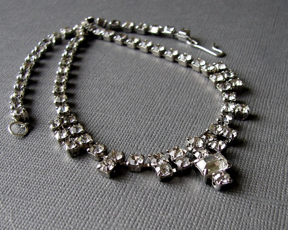 1950s vintage rhinestone costume jewelry choker necklace for Bling jewelry coupon code