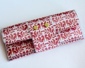 Handmade Vinyl Long Wallet - Ottoman /  large wallet, clutch, fox wallet, cute wallet, gold, women's wallet, vinyl wallet, snap wallet
