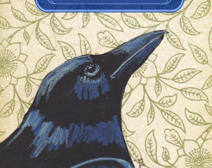Dream Big raven crow greeting card