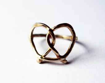 Bronze Pretzel Ring