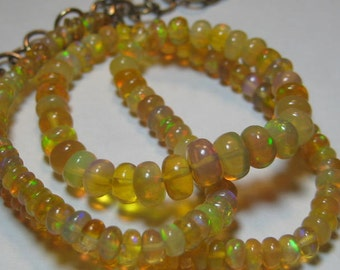 Natural Honey  Ethiopian Opal  neckalce.................    18 inch .........            e730