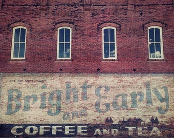 Bright & Early Coffee and Tea - Hico Texas Photograph
