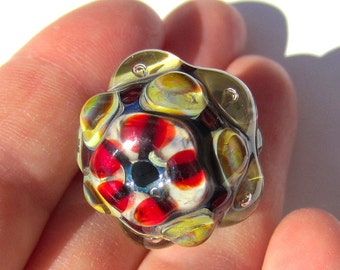 Handmade  Lampwork Glass Focal Bead