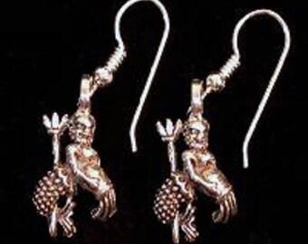 Aquarius Zodiac Charm Earrings