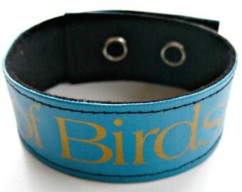 Cuff/book Binding Bracelet: The Life of Birds